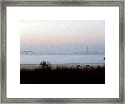 Pre-dawn Fog Framed Print