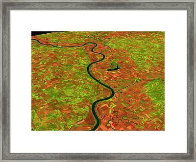 Pre-flood Missouri River Framed Print by Nasagoddard Space Flight Center