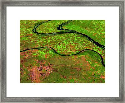 Pre-flood Rivers Framed Print by Nasagoddard Space Flight Center