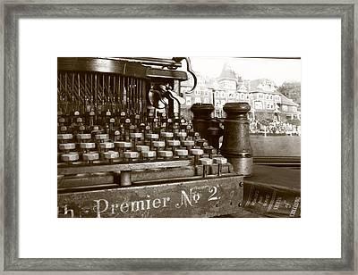 Pre-text Framed Print