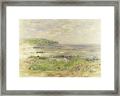 Preaching Of St. Columba Iona Inner Hebridies Framed Print by William McTaggart