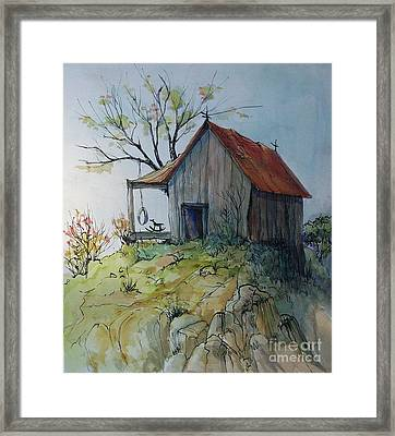 Precarious Framed Print by Judith A Smothers