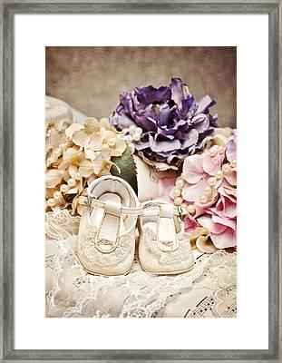 Precious Baby Shoes Framed Print