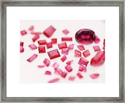 Precious Gemstones Framed Print by Lawrence Lawry