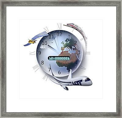 Precision Timing, Conceptual Artwork Framed Print by Smetek