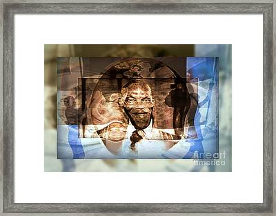 Prediction - Me Abdoulaye Wade After The Election Framed Print by Fania Simon