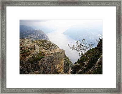Preikestolen And Lysefjord, Rogaland, Norway Framed Print by Anjci (c) All Rights Reserved