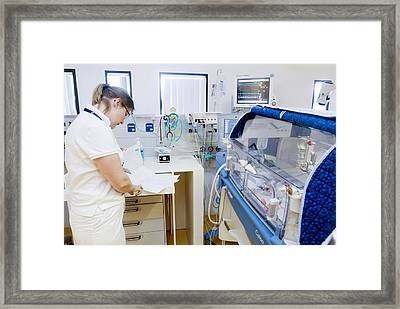 Premature Baby Unit Framed Print by Arno Massee