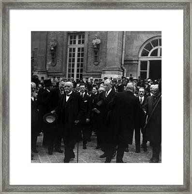 Premier Georges Clemenceau, President Framed Print by Everett