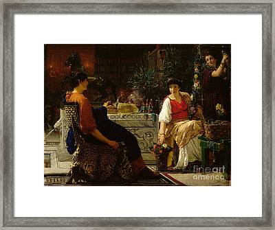 Preparations For The Festivities Framed Print by Sir Lawrence Alma-Tadema