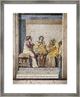 Preparing A Love Potion, Roman Mosaic Framed Print