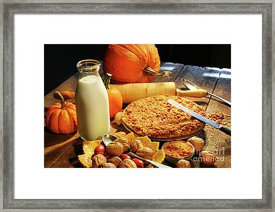 Preparing For Holiday Desserts Framed Print by Sandra Cunningham