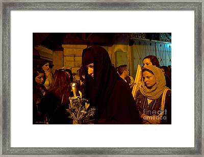 Preparing To The Procession Framed Print by Arik Baltinester
