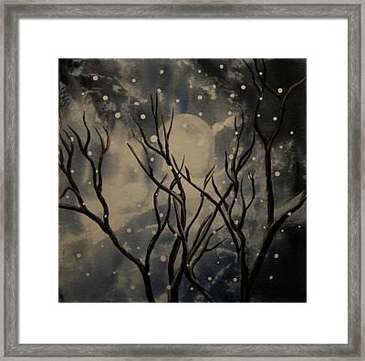 Prescott Snow Storm Framed Print