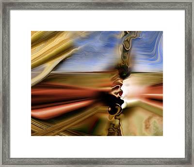 Framed Print featuring the digital art Prescribed Burn by Steve Sperry