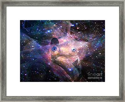 Presence In The Healing Sky Framed Print by Fania Simon