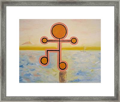 Present - Being Or Occurring Now. Framed Print by Cory Green