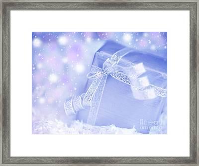 Present Gift Box Framed Print by Anna Om