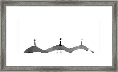 ...present... Framed Print