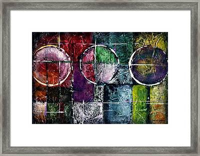 Presente Pasado Y Futuro -art By Laura Gomez Framed Print by Laura  Gomez