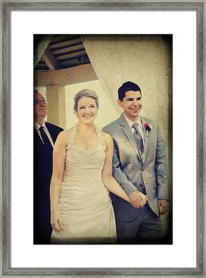 Presenting The Newlyweds Framed Print by Laurie Search