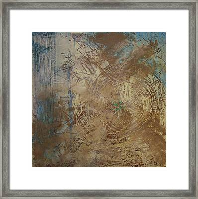 Preserve The Blue Gold Framed Print