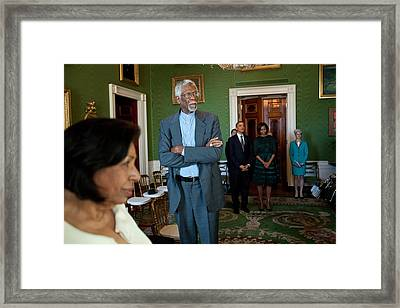 President And First Lady Michelle Obama Framed Print