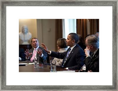 President And House Minority Leader Framed Print by Everett