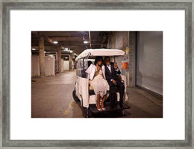 President And Michelle Obama Ride Framed Print by Everett