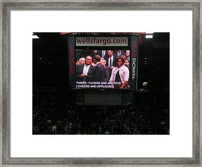 President And Michelle Obama Tucson Framed Print by Jayne Kerr