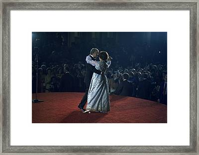President And Rosalynn Carter Dancing Framed Print by Everett