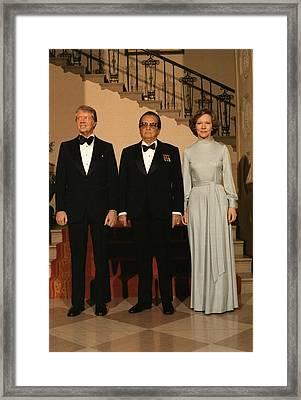 President And Rosalynn Carter Framed Print by Everett