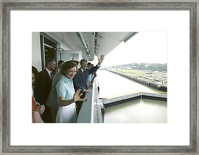 President And Rosalynn Carter Visit One Framed Print by Everett