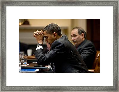 President And Senior Advisor David Framed Print by Everett