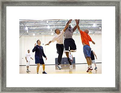President Barack Obama Attempts Framed Print