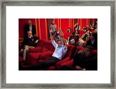 President Barack Obama Celebrates Framed Print by Everett