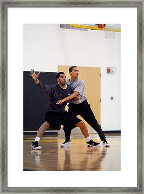 President Barack Obama Guards Framed Print