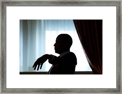 President Barack Obama Prior Framed Print by Everett