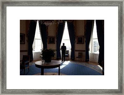 President Barack Obama The Day Framed Print