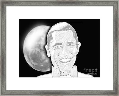 President  Barrack Obama Framed Print by Belinda Threeths