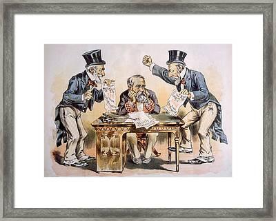 President Benjamin Harrison Beset Framed Print