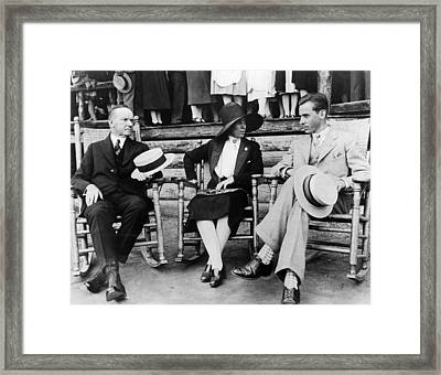 President Calvin Coolidge, First Lady Framed Print by Everett