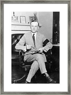 President Calvin Coolidge Framed Print by International  Images