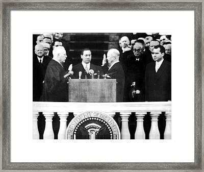 President Dwight D. Eisenhower 3rd Framed Print by Everett