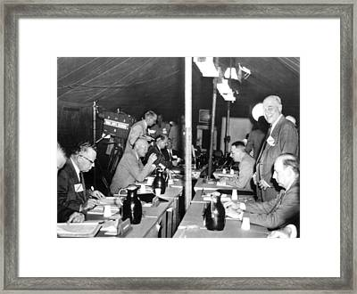 President Eisenhower Participates Framed Print by Everett