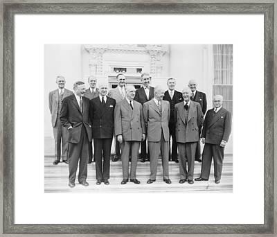 President Eisenhower With Nine Supreme Framed Print