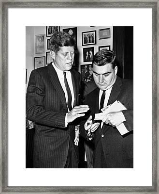 President-elect John Kennedy Confers Framed Print by Everett