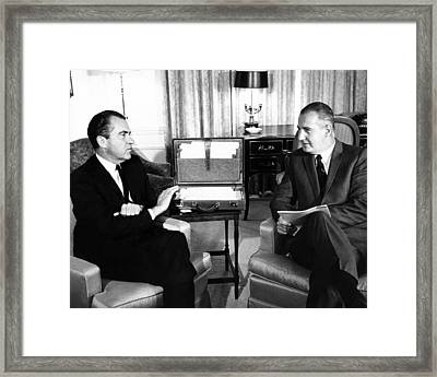 President-elect Nixon Meets With Vice Framed Print by Everett