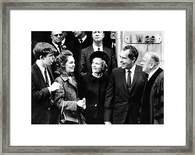 President-elect Richard Nixon Framed Print by Everett