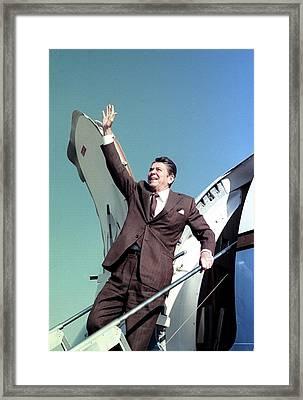 President-elect Ronald Reagan Waves Framed Print by Everett